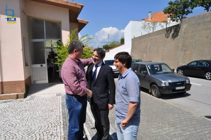 Chegada dos presidentes (José Luís Pires, Luís Correia e Miguel Vaz)