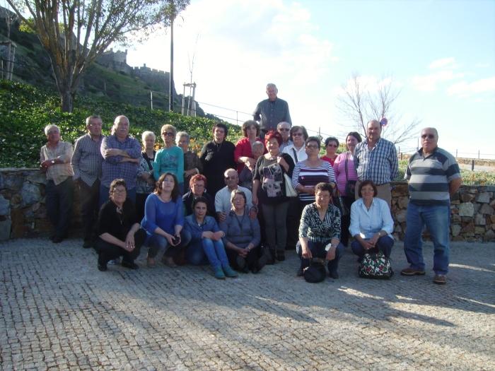 Grupo de residentes que participou na visita ao Centro Coordenador da Valnor (Avis), visita esta que contou com o apoio da Câmara Municipal de Castelo Branco
